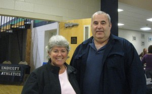 Patti & David MacDonnell await Endicott game