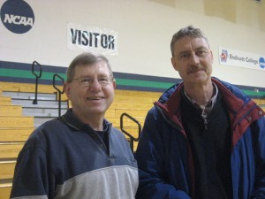 Rick Derr and Chuck Gaskill before Endicott game