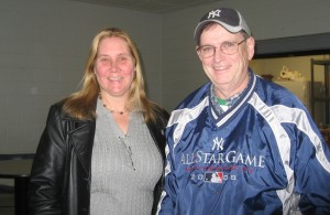 Suzanne and Kevin Walker before Salem State game