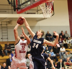 Hans Miersma (shown here against ENC) had 18 points and 13 rebounds againt MIT.