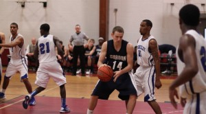 Jason Dempsey (15 points) gets the ball in the paint