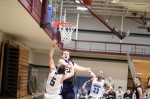 David Dempsey gets one of his five blocks