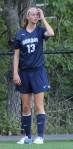 Freshman Kara Dry scored on a corner kick