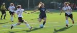 Olivia Sleeper sets to fire a shot on goal