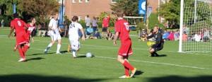 Grant Stevens (#24) moves in for a goal
