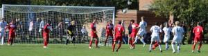 Colten Corey (#12) heads home the second Gordon goal.
