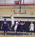 Hans Miersma dunks in the second half