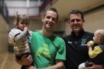 Aaron Vogelzang and Scott Allenby with children