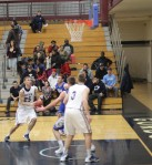 Dominic Paradis heads for the hoop