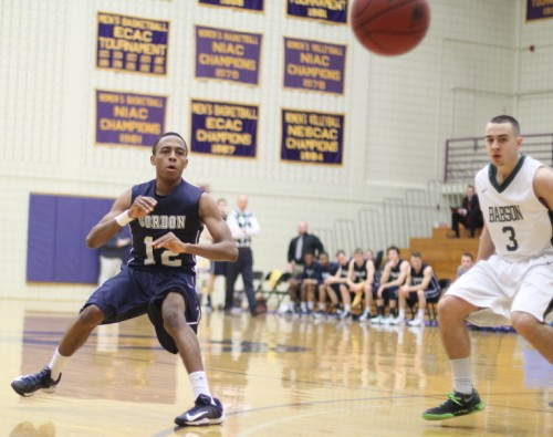 Richie Armand (shown here against Babson) hit a three with five seconds left against Western New England to give GC the win