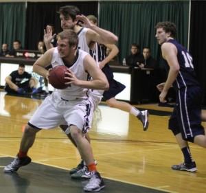 Matt Langadas controls a rebound
