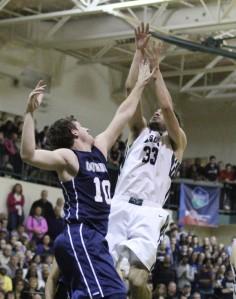 Ryan Sheehan shoots over Luke Hamilton