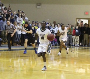 Gustave Koumare breaks free after a steal