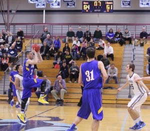 Mike Gelineau of Western New England shoots for the tie