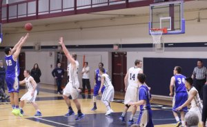 Trevor Fahmy (shooting) gave Roger Williams the lead for good