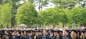 Graduation crowd