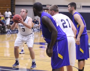 Sam Johnson made eight free throws against UNE