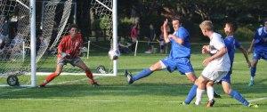 Tyler Modzeleski gets a shot on net