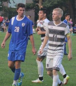 Freshman Garrett Bolton shadowed Gordon's Caleb Cole