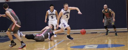 Sam Johnson chases a loose ball