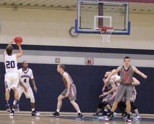 Jake Haar (#20) gets room for a three