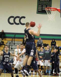 Sam Johnson grabs one of his eighteen rebounds