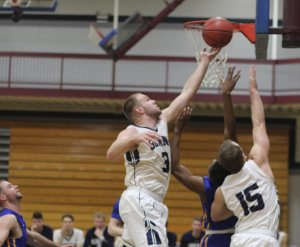 Sam Johnson snags a rebound